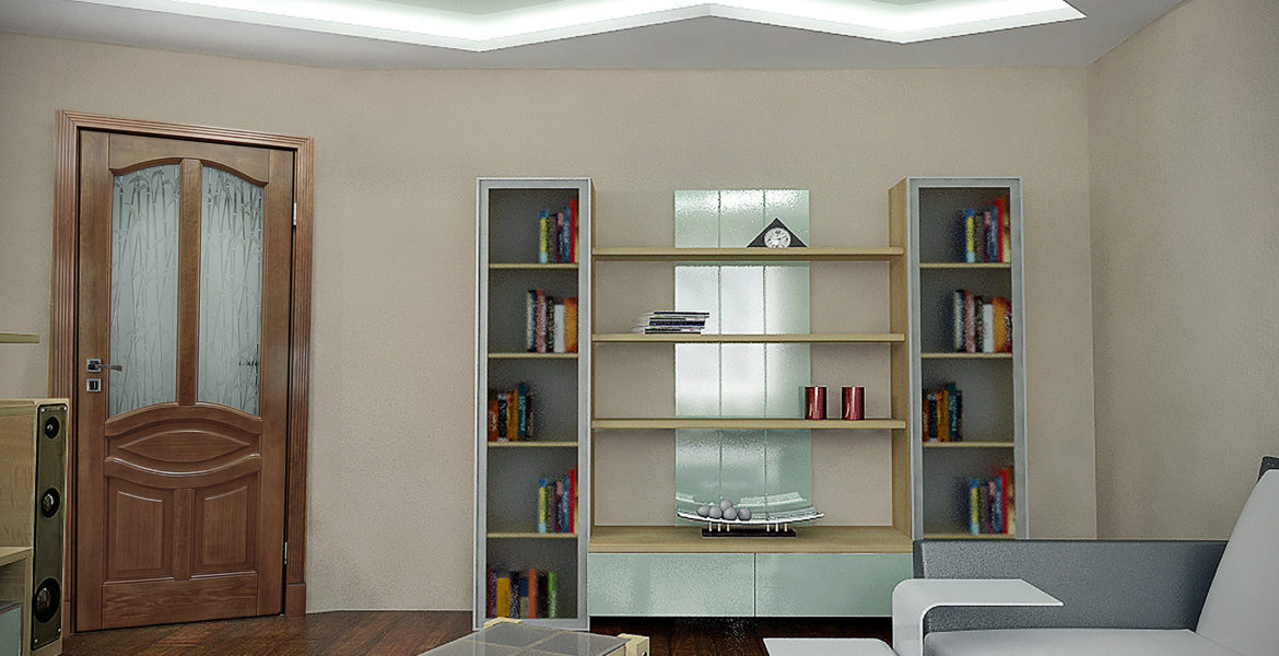 Interior with purity of the lines, neutral colours and finishes with natural materials.