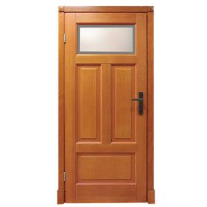 Drzwi wewnętrzne drewniane łazienkowe